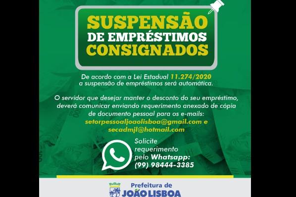 SUSPENSÃO DE EMPRÉSTIMOS CONSIGNADOS