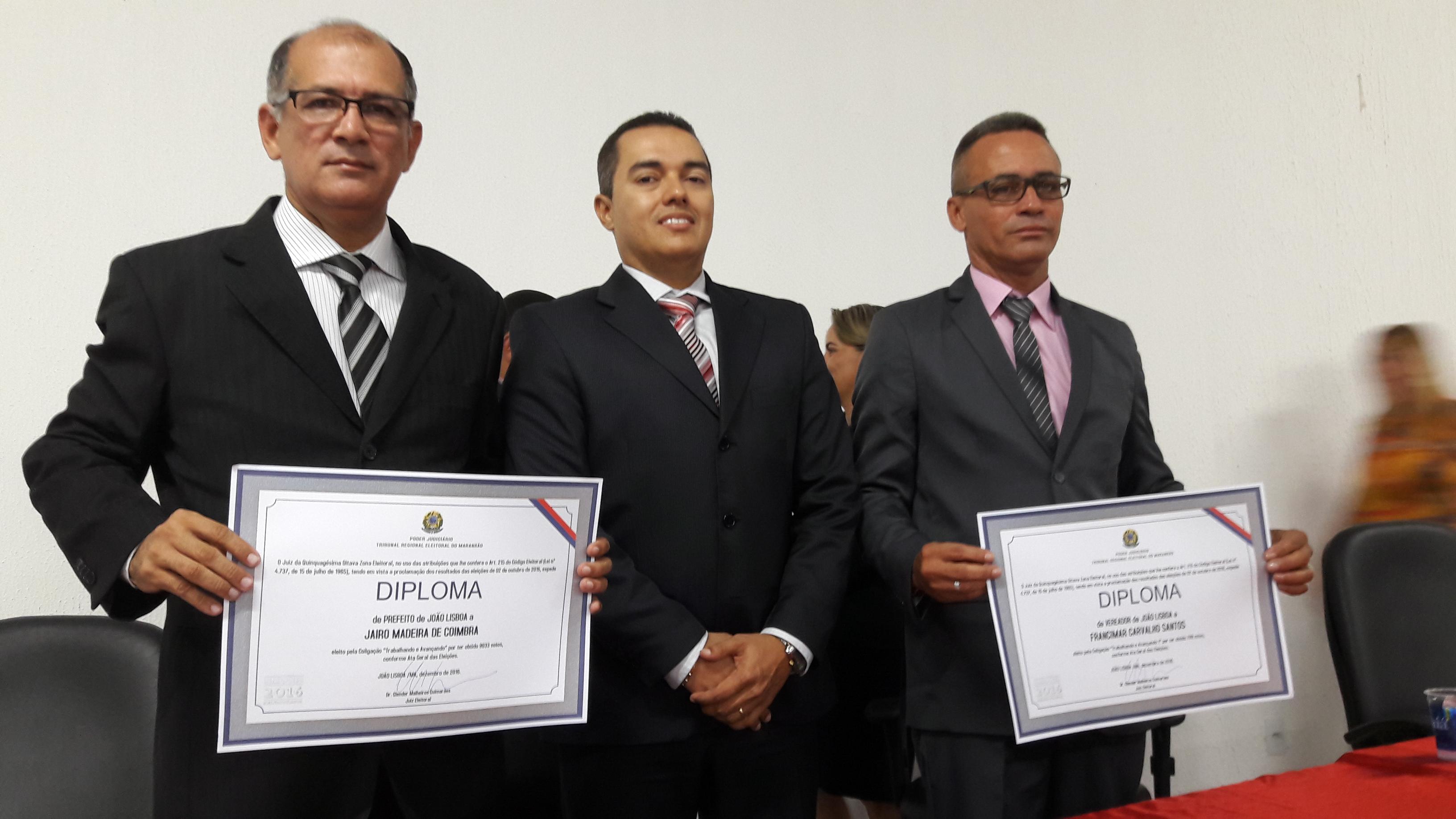 Prefeito Jairo Madeira e Maria do Nilson são diplomados